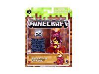 """Minecraft Skeleton on Fire Mini 2/"""" Figure Pack Mojang Jazwares Undead Mobs 2018"""