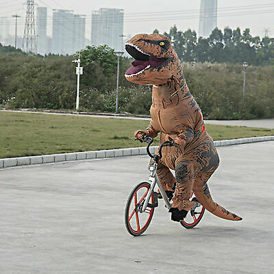 T Rex Costumes (Inflatable Dinosaur T-REX Child Costume Jurassic Funny Cosplay Blowup Suit)