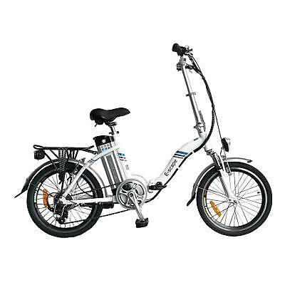Bicicleta Eléctrica Plegable 20'' 36V 10,4Ah Blanco Clásico E-Scape Camping Car