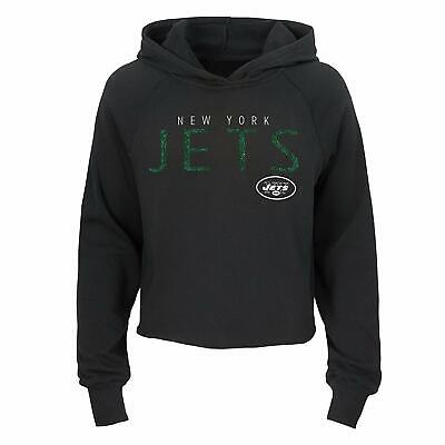 Outerstuff NFL Football Girls New York Jets Iced Out Long Sleeve Hoodie Iced Out Football