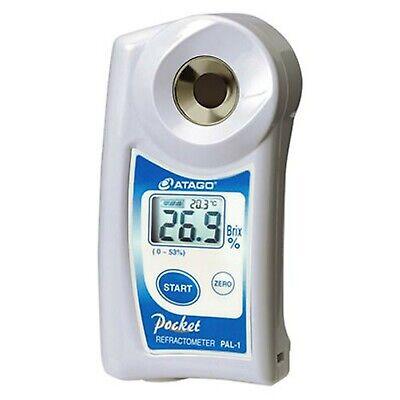 Atago 3810 PAL-1 Digital Hand Held Pocket Refractometer, 0.0 - 53.0% Brix Mea...