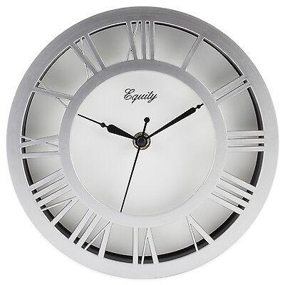 20862 Equity by La Crosse 8 Silver Nickel Metal Floating Dial Analog Wall Clock