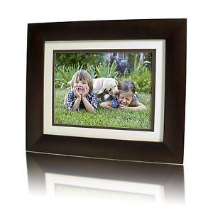 HP-8-LCD-Digital-Photo-Frame-With-Calendar-Dark-Espresso-Wood