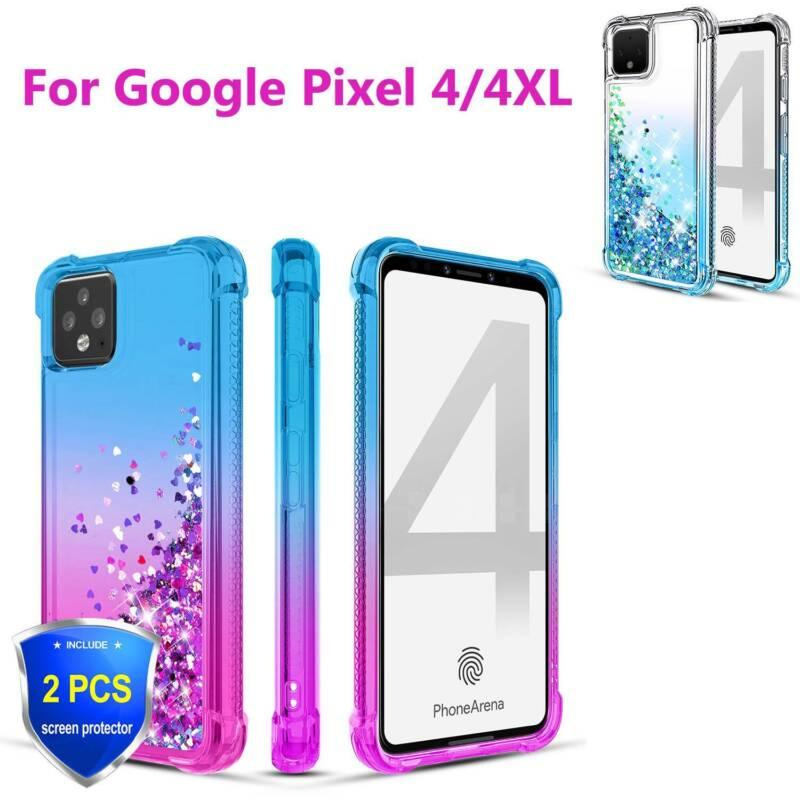 For Google Pixel 4/4 XL Case Shockproof Quicksand Glitter Co