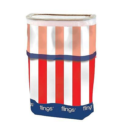 Flings Patriotic Party Pop Up Trash Bin, 13 Gallons FREE U.S. FC Ship - NEW