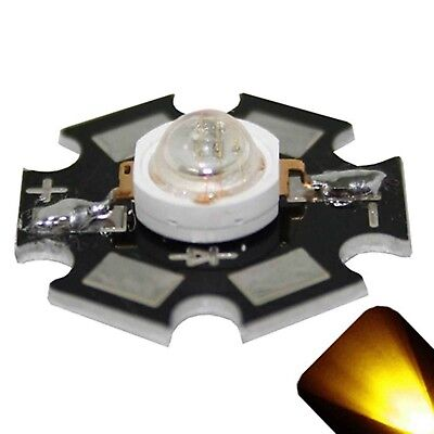 10 X Led 1 Watt Yellow Gold Star Ultra Bright Wide Angle High Power Leds 1w W