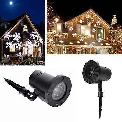 US Xmas Snowflake Laser Light Projector Moving Garden decorate Home Lamp Outdoor](Lighted Snowflakes Outdoor)