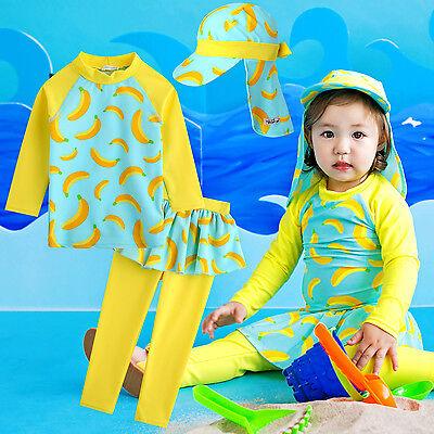 Vaenait Baby Kid Girl Water Leggings Rashguard Swimsuit Set