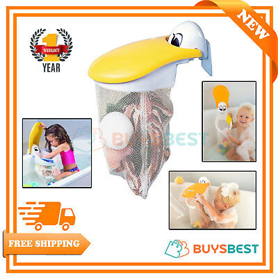 - Kids Kit Pelican Bath Toy Organiser Net Tidy Storage Pouch Jumbo Bath Toy Storag