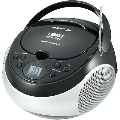 как выглядит Naxa NPB252BK Portable Mp3/cd Player With Am/fm фото