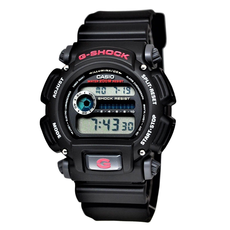 Casio Men'S G-Shock Quartz Chronograph Black Resin Band 48.5mm Watch Dw9052-1v