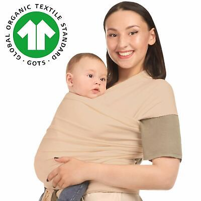 Baby Wrap Carrier - Beige - Toddler, Newborn, Infant, Child - Organic Cotton