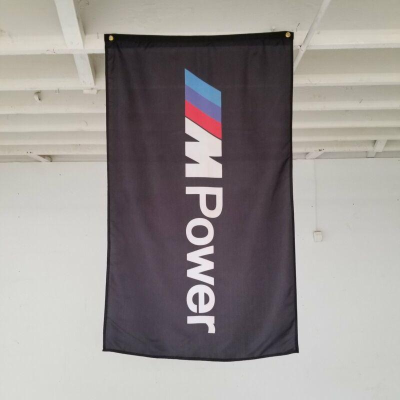 BMW M-Power Gray Banner Roadster F90 E60 3.0 CSL F85 M240i F80 Garage Shop Flag