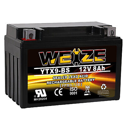 Weize AGM Battery for Honda TRX 125 250 300 400EX Sportrax Fourtrax