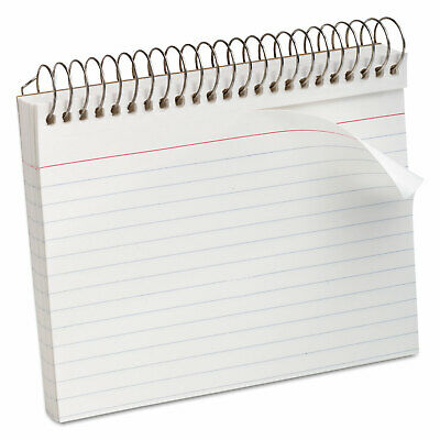 Oxford Spiral Index Cards 4 X 6 50 Cards White 40283