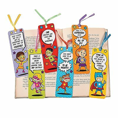 Laminated Superhero Bookmarks (2 dozen or 24)