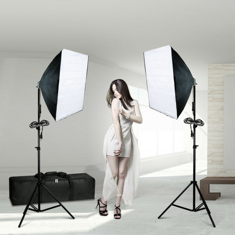 Photography Softbox Continuous Photo Video Lighting Kit Photo Studio w/ Bag