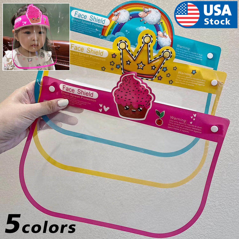 USA Kids Face Shield Protective Children Reusable Washable No Fog Mask Visor Accessories