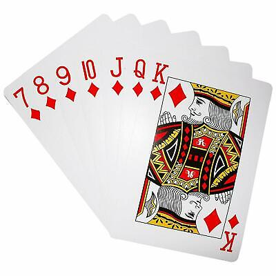 Giant Playing Card Decorations (Jumbo Playing Cards Plastic Coated Deck Pack of 52 Giant Casino)