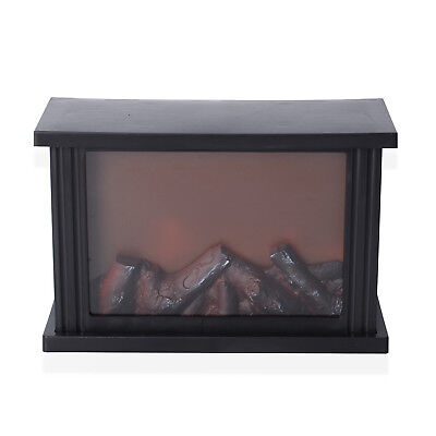 "New Fireplace Lantern with LED Lights 11.81x4.52x7.87"" 3xC Battery Not Included"