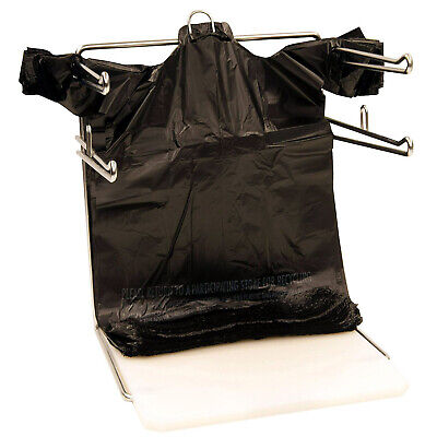 100 pc 1/6 Black Plastic T-Shirt Shopping Carryout  Bags 11.5