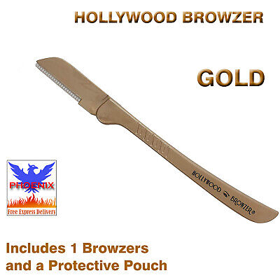 HOLLYWOOD BROWZER GOLD (Includes 1 Browzer and a Protective Pouch) *BRAND NEW*