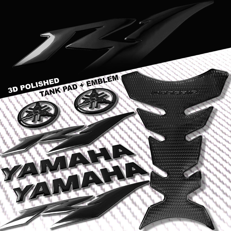 "8/"" 3D FAIRING//FUEL TANK YAMAHA LOGO EMBLEM+6/"" STICKER FOR YZF-R1//R1S CHROMED RED"