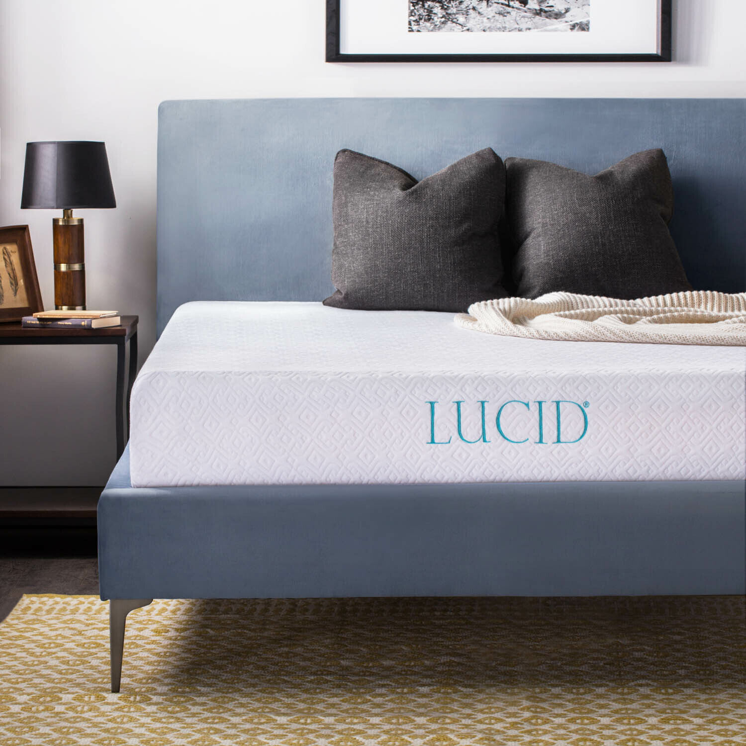 10 inch Memory Foam Mattress by LUCID Short Queen