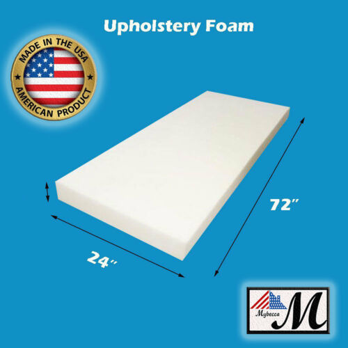 "1""x 24""x 72"" High Density Seat Foam Cushion Replacement Upholstery Per Sheet"
