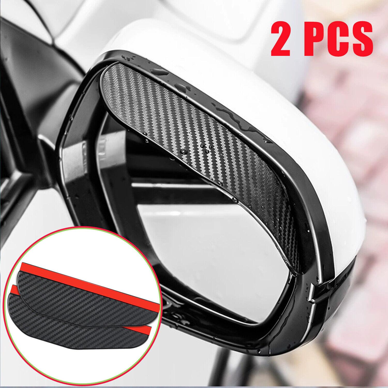 2X Carbon Fiber Car Rear View Side Mirror Rain Board Eyebrow Guard Sun Visor USA Car & Truck Parts