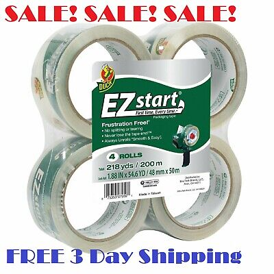 Ez Start Carton Sealing Tape (Duck Brand EZ Start Clear Packaging Tape Refill 1.88