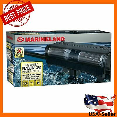MARINELAND PENGUIN 350B BIO-WHEEL AQUARIUM POWER FILTER 75-GAL - Penguin Bio Wheel