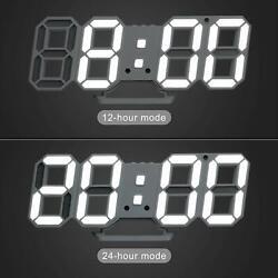 Digital 3D LED Wall Desk Big Clock Alarm Light Adjustable Temperature Snooze US