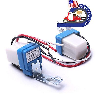 2pcs Blue Auto Onoff Photocell Street Light Photoswitch Sensor Switch Ac Dc 12v