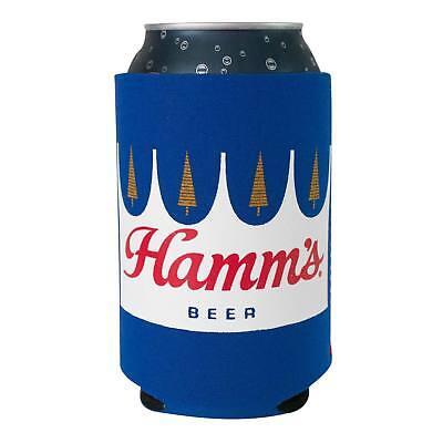Hamm's Beer Can Insulator Cooler Blue