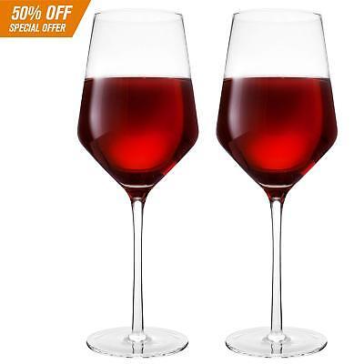 Hand Blown Crystal Wine Glasses - Bella Vino Classy Red/White Wine Glass Made