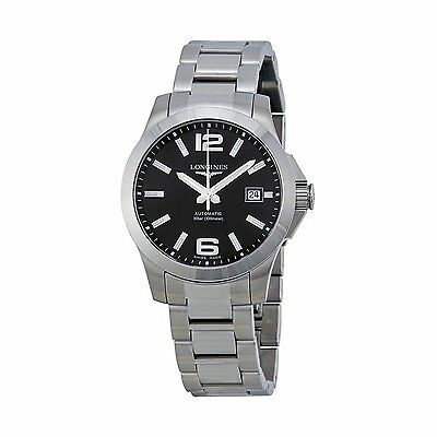 New Longines Conquest Black Dial Stainless Steel Men's Watch L36764586