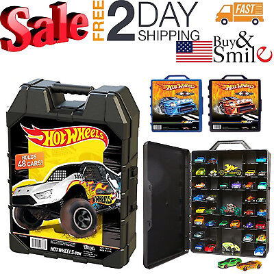 Car Carrying Case Storage Hot Wheels Box Organizer Easy Grip Holds Up To 48 Cars