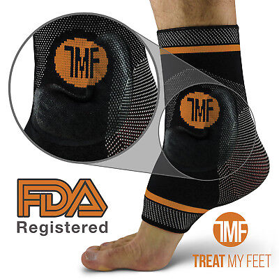 Best Copper Infused Compression Ankle Brace, Silicone Ankle Support