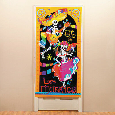 Halloween Dia De Los Muertos DAY OF THE DEAD Party Plastic Door Cover DECORATION - Halloween Party Day