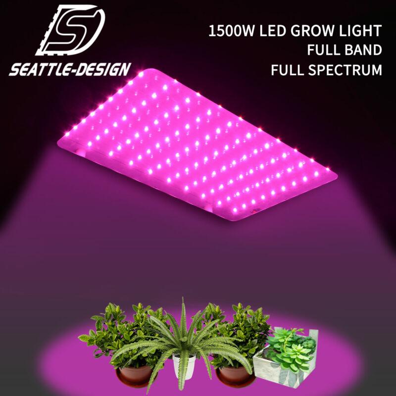 New 1500 Watt Grow Lights Full Spectrum LED Plant Grow Light Panel Full Band UV & IR Unbranded NYG000049 for 52.96.
