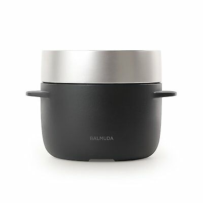 BALMUDA The Gohan Rice Cooker Steamer 3 Cups K03A-BK Black AC100V from Japan F/S