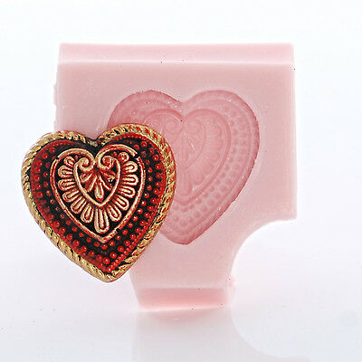Глинистые формы Silicone Heart Shaped Mold