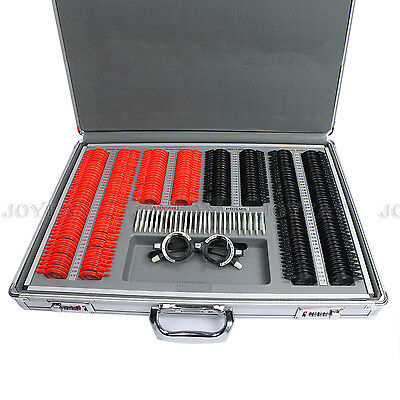266 Pcs Optical Trial Lens Set Plastic Rim Optometry Kit Case Free Trial Frame