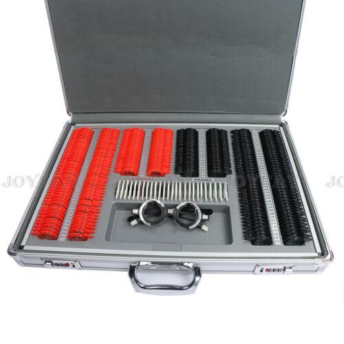 266 pcs Optical Trial Lens Set Optometry Kit Plastic Rim Aluminum Case
