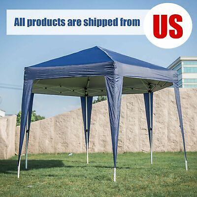 Garden Lawn Portable Hexagon Gazebo Party BBQ Wedding Sunshade Canopy Tent Blue
