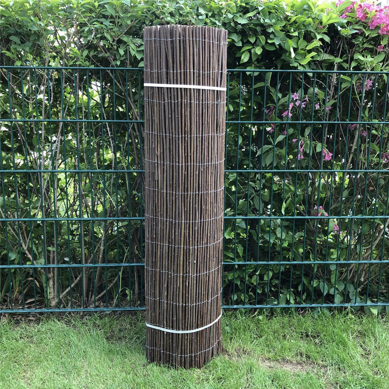 Weidenzaun 100x500cm Weide Zaun Sichtschutzmatte Sichtschutzzaun