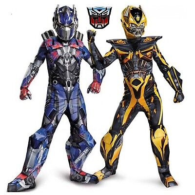 Transformers Kids Costume Full Body Suit Bumblebee Optimus Prime Superhero New - Kids Transformers Costume