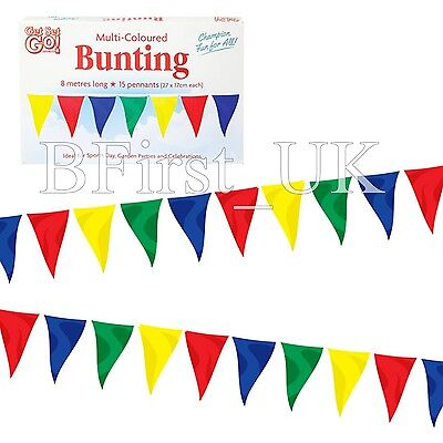 26 Feet Long Material Polyester Pennant Flag Banner Multi Coloured Bunting Party