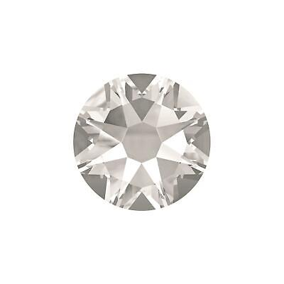 2058 Crystal (2058 2088 Crystal Clear Swarovski Flatback Crystals Non Hot Fix - Pack of 50)